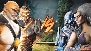 Mortal Kombat Komplete Edition - Kintaro & Dark Kahn Costume Mod Tag Ladder Gameplay Playthrough