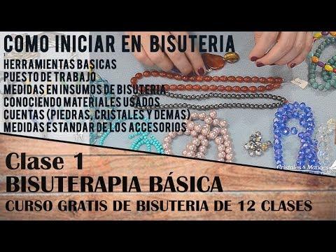 b819b18b8668 1 CLASE - INICIO A LA BISUTERIA - YouTube