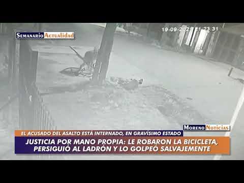 Justicia por mano propia: Le robaron la bicicleta, persiguió al ladrón y lo golpeó brutalmente