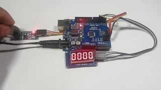 Counter / Speed Sersor + Display 4 Bits Digital Tube LED Display