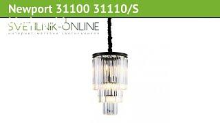 Люстра Newport 31100 31110/S black+gold обзор: светильник Newport 31100 31110/S black+gold 600 Вт
