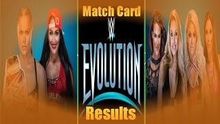 WWE Evolution PPV 2018 Matches Card And Results ! Nikki bella vs Ronda Raw woman championship match