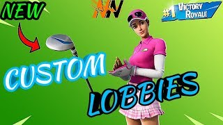 * NEW * BIRDIE SKIN & DRIVER PICKAXE + CUSTOM MATCHMAKING LOBBIES | Fortnite Battle Royale