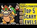 Super Mario Maker TOP 5 SCARIEST LEVELS (Wii U)