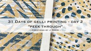 31 Days of Gel Printing - Day 2