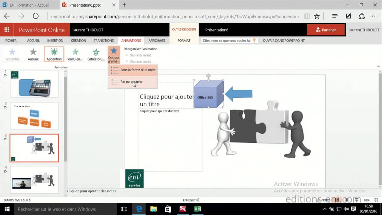 office online powerpoint online transitions animations et