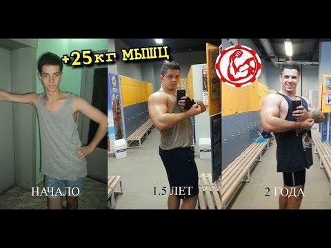 ! Как набрать 25 кг мышц за 1 год внатурашку ? Виталий Дан на Вечернем Юрганте