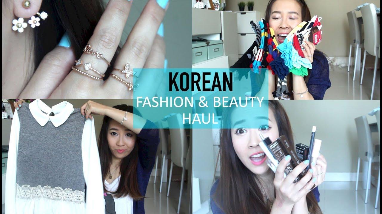 Korean Fashion & Beauty Haul