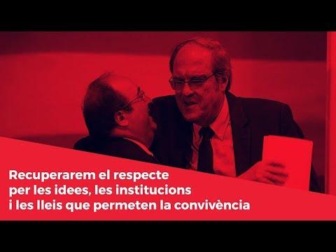 Recuperarem el respecte per les idees, les institucions i les lleis que permeten la convivència
