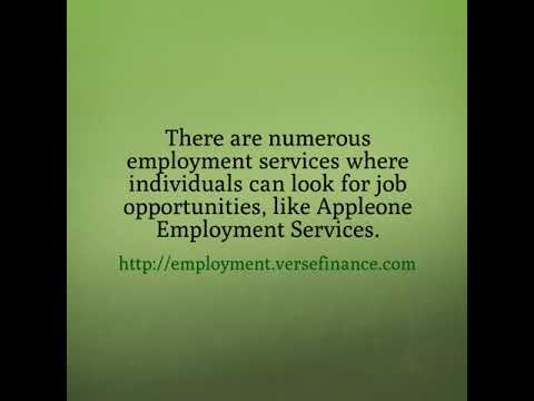 Turn To Appleone Employment Services For The Best Employment