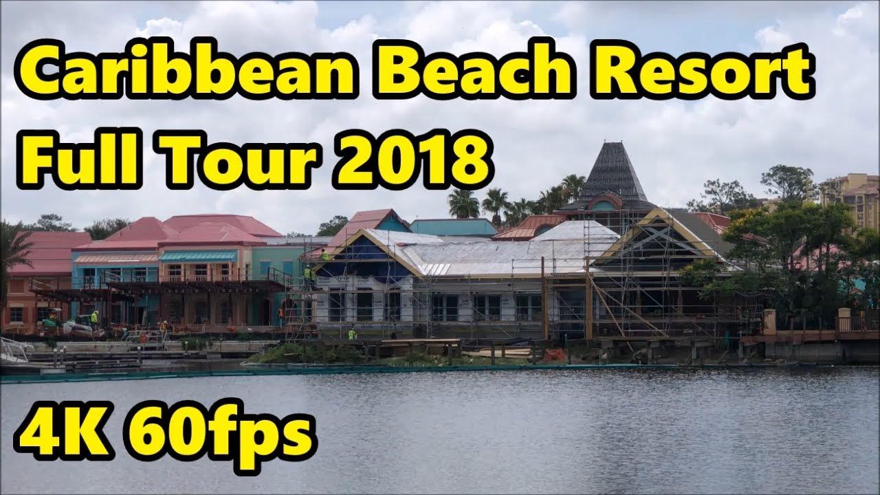 Disney S Caribbean Beach Resort Full Tour Construction Update 4k 60fps