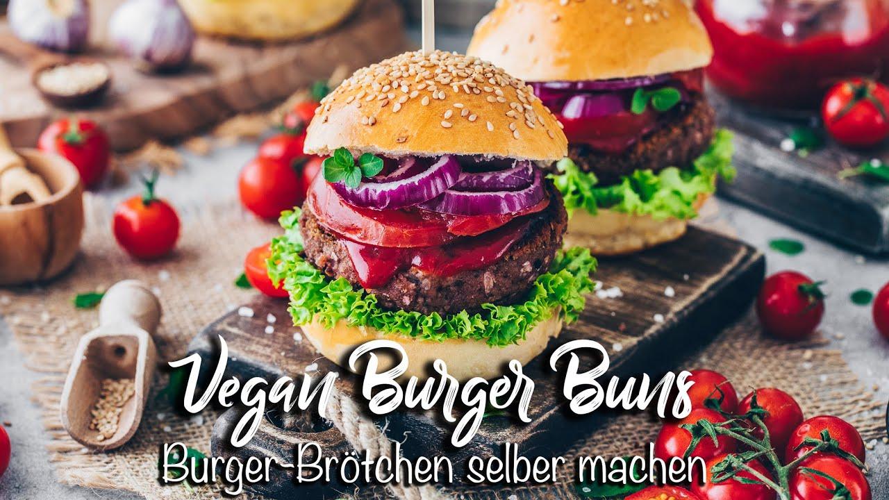 Vegane Burger-Brötchen selber machen *fluffig weiche Brioche Hamburger-Brötchen* Einfaches Rezept!