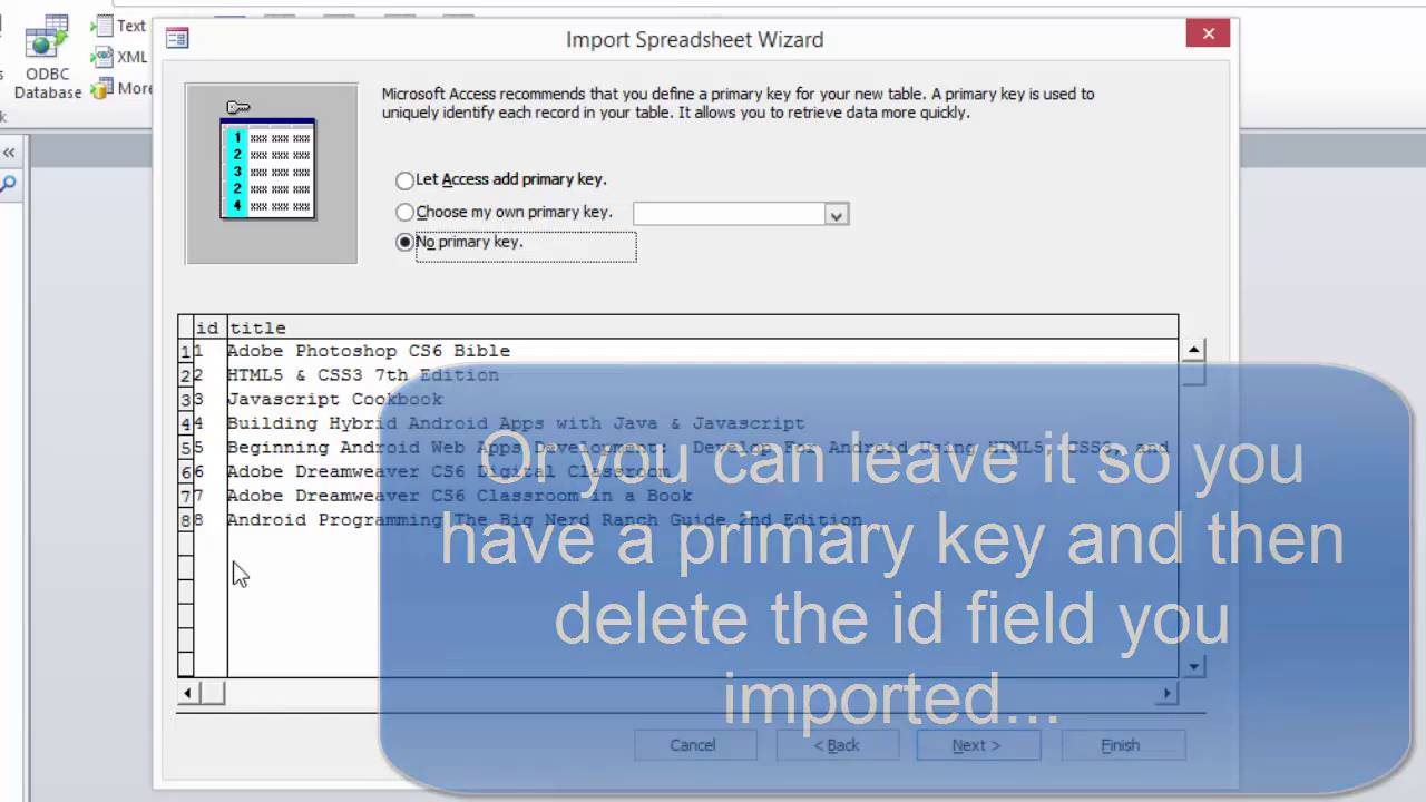 Export SQLite database to Excel then import that into Access