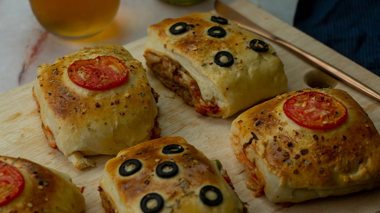 Chicken Cheese Pizza Squares Recipe