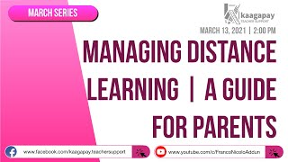 Managing Distance Learning | A Guide for Parents