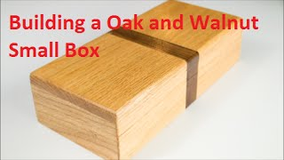 Building a Red Oak with Walnut Inlay Box