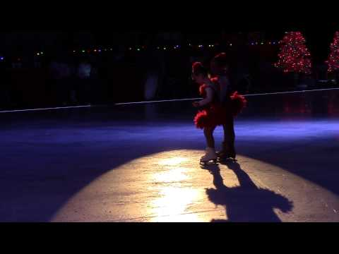 Christmas Figure Skating on Ice Palm Beach Skate Zone, 1st show at 5 months - 6 year old