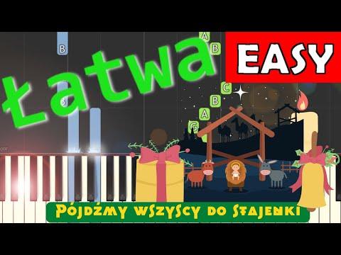🎹 Pójdźmy wszyscy do stajenki - Piano Tutorial (łatwa wersja) 🎹