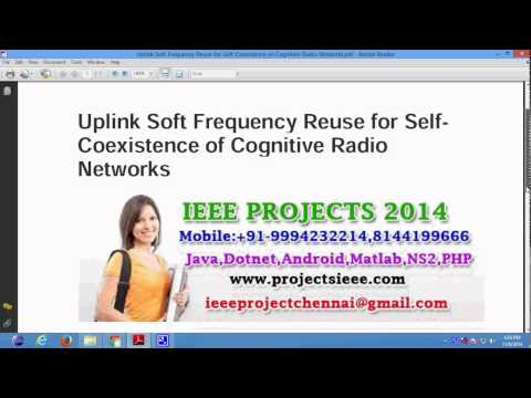 Uplink Soft Frequency Reuse for Self Coexistence of Cognitive Radio Networks
