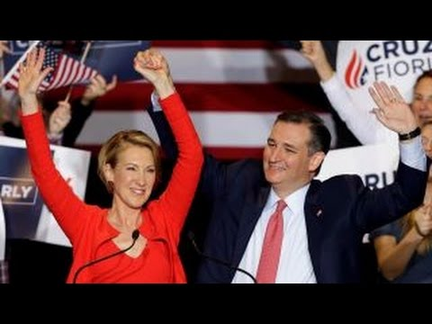 Cruz campaigns in Indiana with new running mate Fiorina