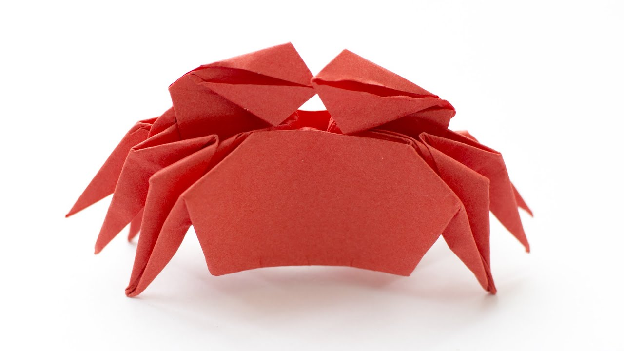 origami crab how to make paper crab youtube