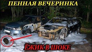 Какой то ЧЕРТ подпалил две машины... Ёжик в ШОКЕ!