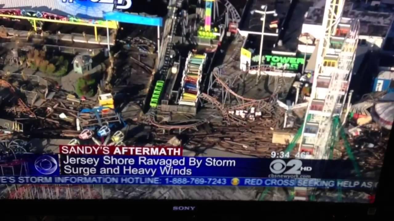Funtown Pier Seaside Heights Nj Amusement Park Destroyed