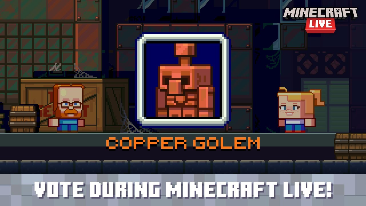Minecraft Live 2021: Vote for the copper golem!