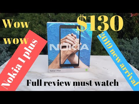 The new Nokia 1 + phone review 2019
