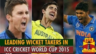 ICC Cricket World Cup 2015 : Leading Wicket Takers in World Cup