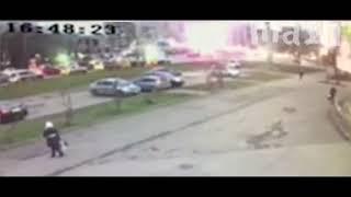 Ижевск. Момент взрыва жилого дома.