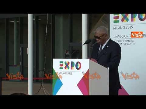 EXPO NATIONAL DAY CONGO MINISTRO SVILUPPO ECONOMICO REPUBBLICA CONGO 30-05-15