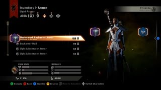 Dragon Age: Inquisition. Unique Light Armor - 122 Armor Rating Mage Only - Therinfal Redoubt