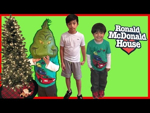 Thumbnail: Toys for Kids Donating to Ronald McDonald House Charities Ryan ToysReview