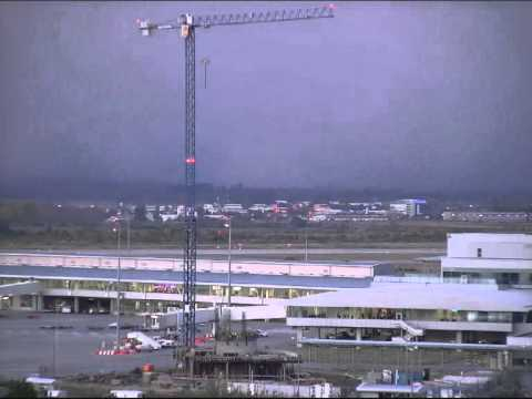 Bad weather at Sofia Airport