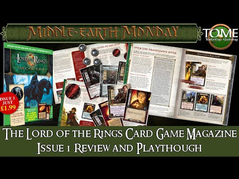 The Lord of the Rings Card Game Magazine Issue 1 Review and Game Report