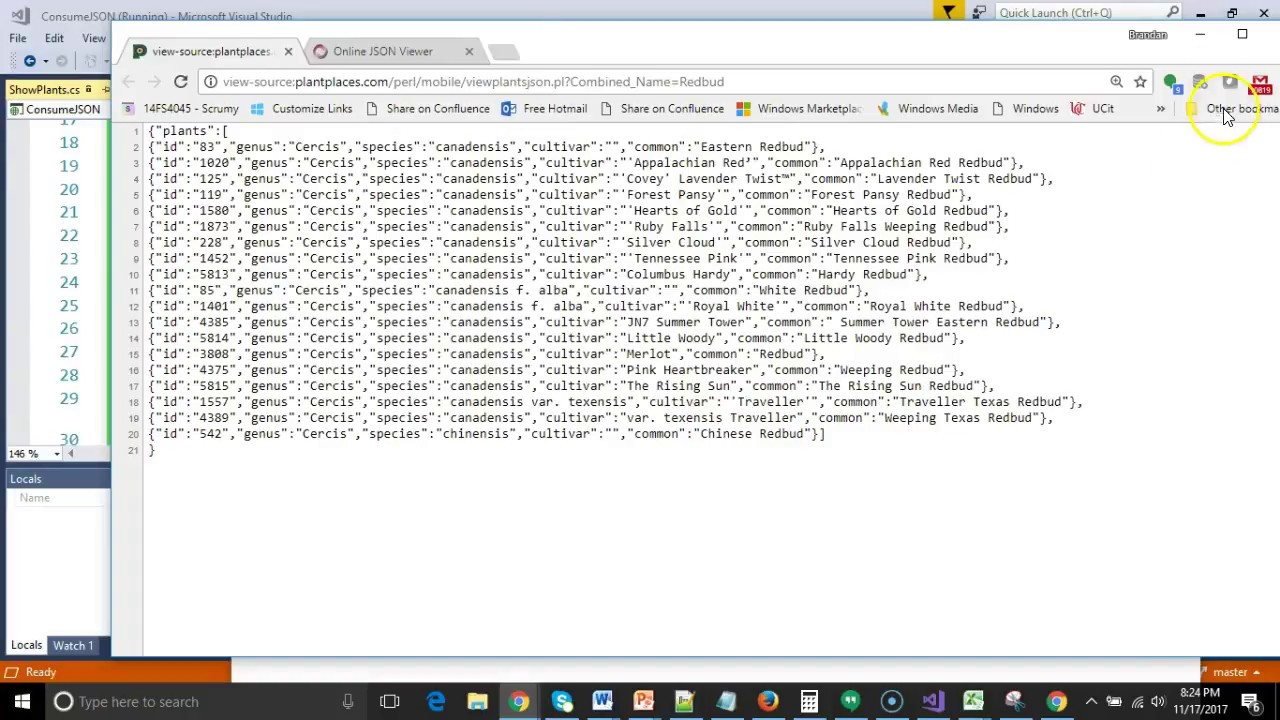 Show JSON data in a ListBox in C# Visual Studio 2017
