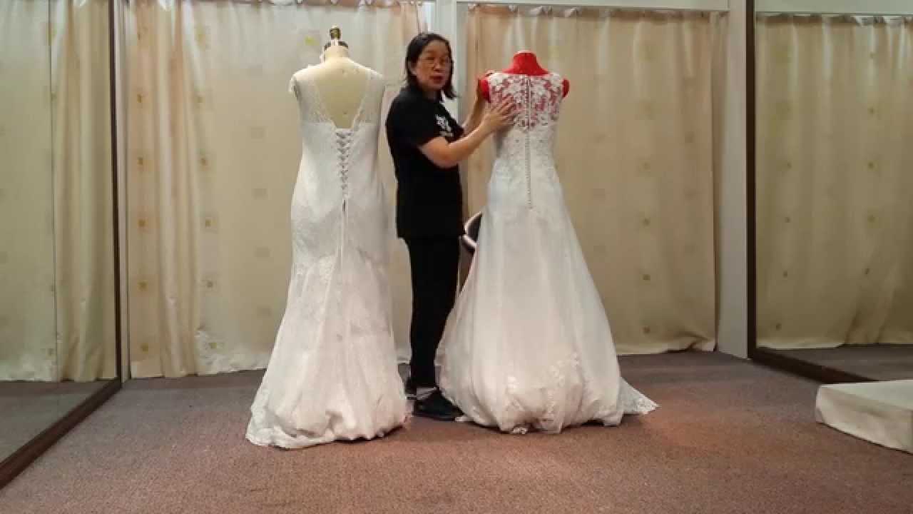 Wedding Dress Change Zip To Lace Up Part 3