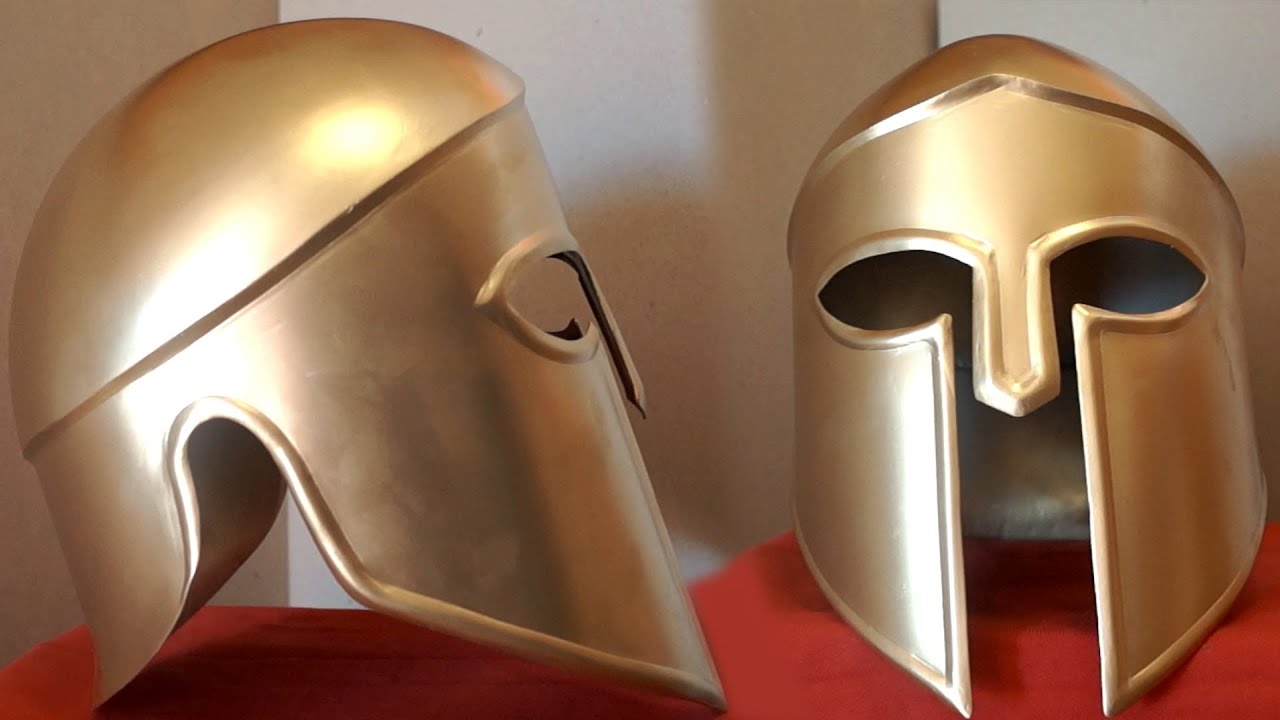 How To Make A Metal Spartan Helmet - YouTube