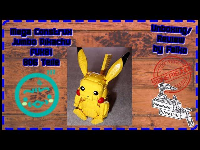Pika-Pikachu | Unboxing+Review | Mega Construx | FVK81 | Jumbo Pikachu | Steinchen-Werkstatt