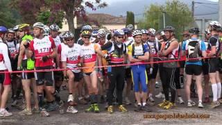 Ardèche - Raid nature du Pont d'Arc 2011 (Part 1 / 5)  Départ course à pied et course en canoë