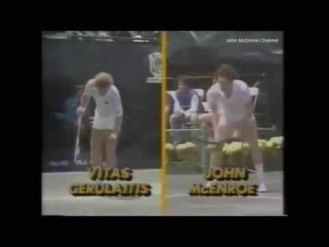 Vitas Gerulaits vs McEnroe Final - Tournament of Champions 1983