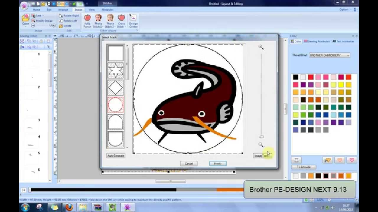 Embroidery Brother Pe Design Next 913 Fully Functional Youtube