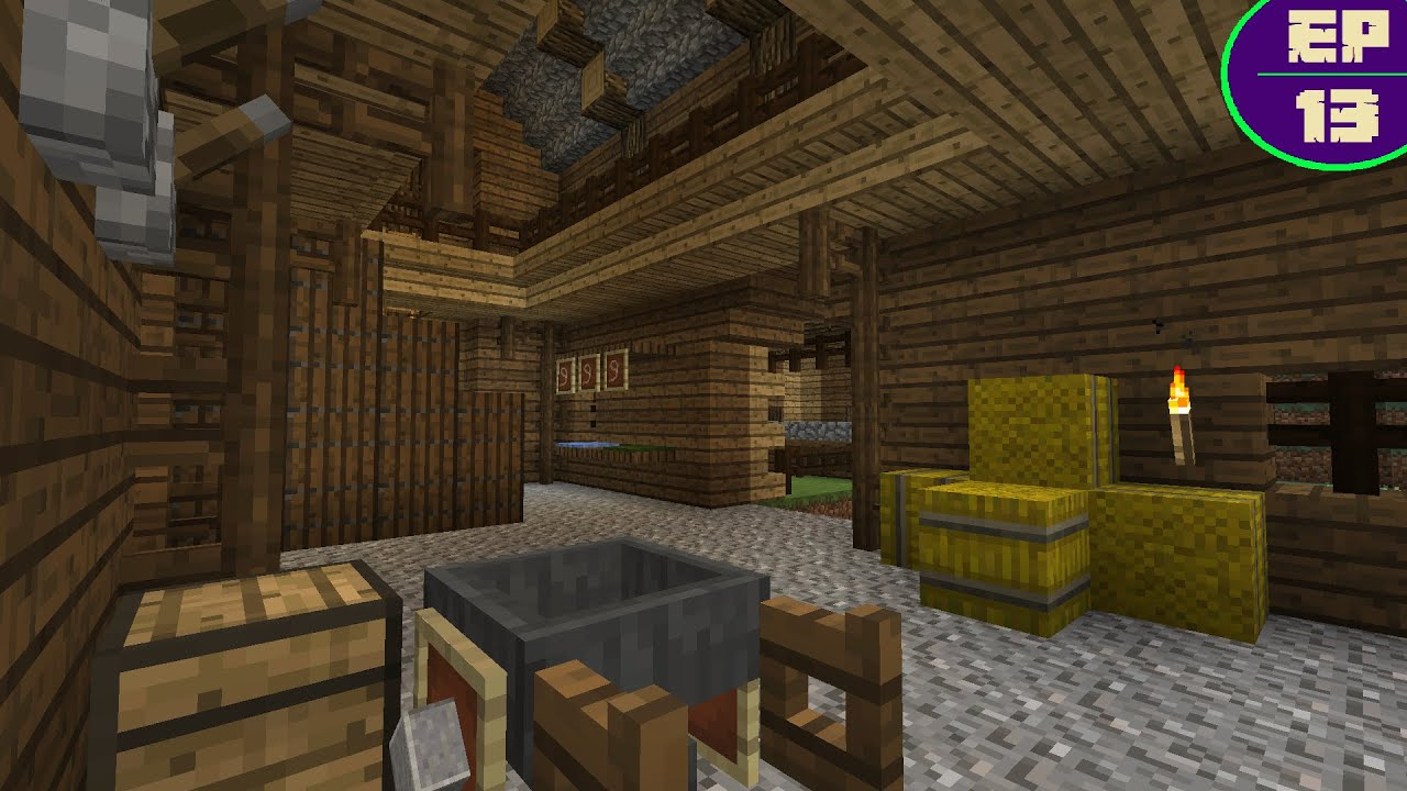 Horse Stable Interior Minecraft Survival Ep 13 Youtube