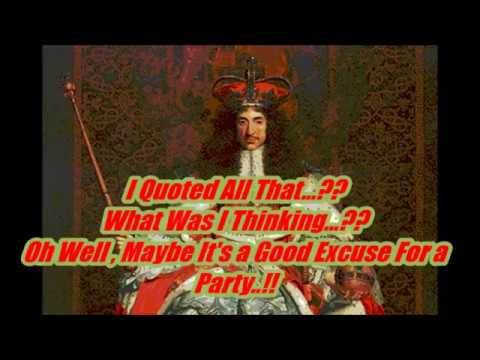 Cammy O'Keefe Presents '' King Charles II Quotes ''
