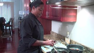 Cooking with Kyrie Irving's chef