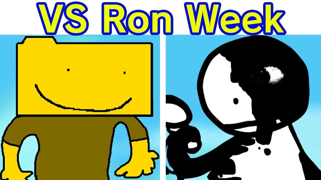 Friday Night Funkin' VS Ron FULL WEEK + Cutscenes (FNF Mod/Hard) (Bob's Onslaught Fan Made)