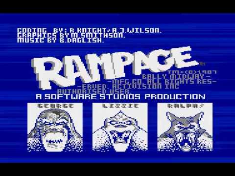 Rampage for Atari XL/XE computers