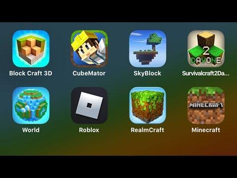 Survival Craft,World of Cubes,ROBLOX,Realm Craft,Minecraft,Block Craft 3D,Cube Mator,Sky Block