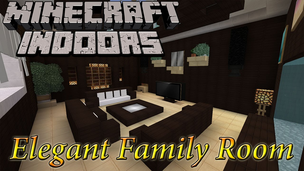 Minecraft indoors elegant family room youtube for 10 living room designs minecraft
